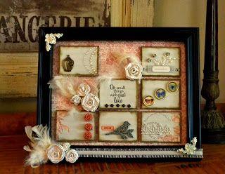 Altered Frame - Home Decor Designer: Jessica Kephart www.homespunelegance.blogspot.com