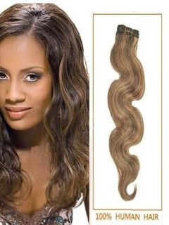 #4/27 Brown/Blonde Body Wave Human Hair Wefts 100g