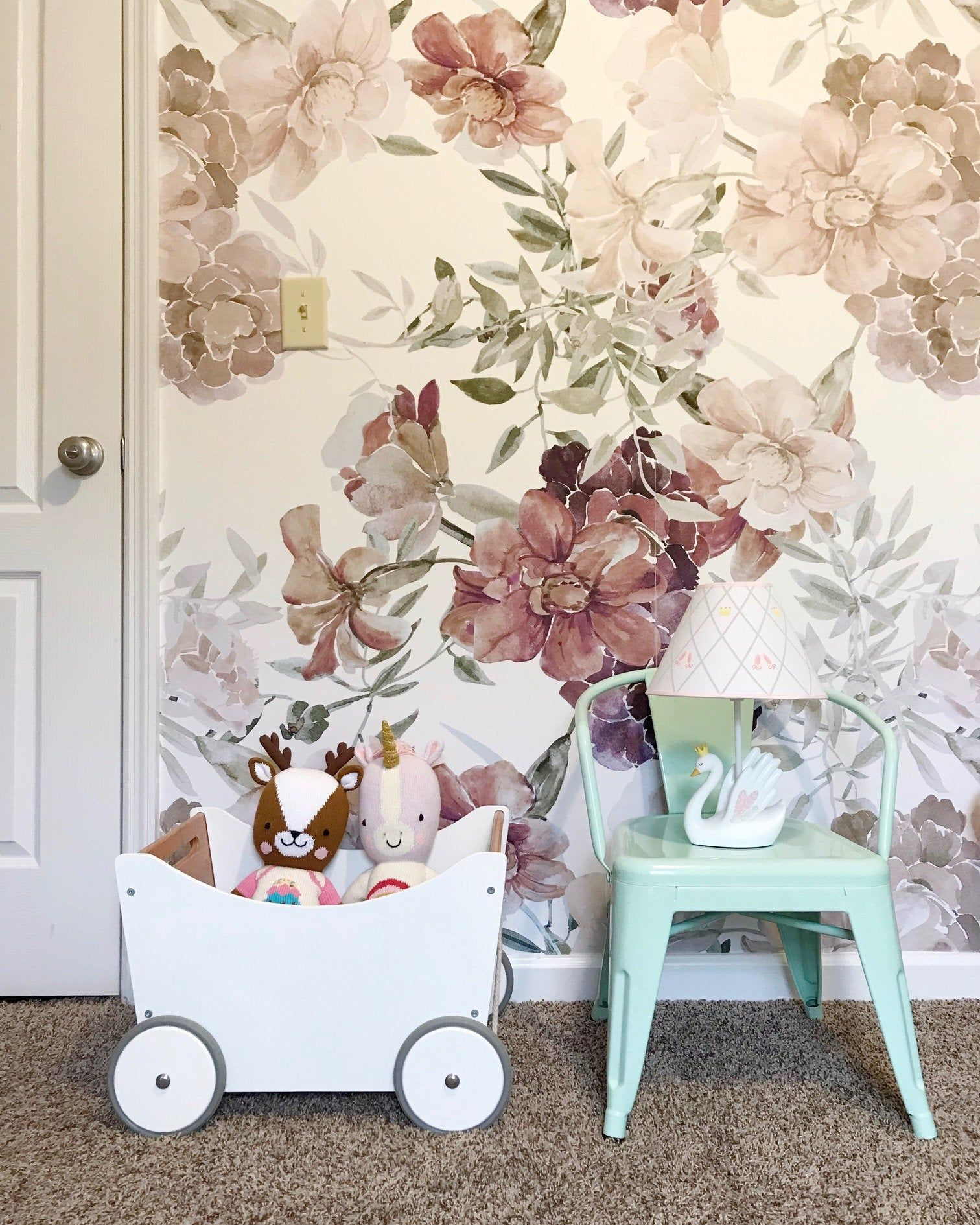 Romantic Composition removable wallpaper Delicate