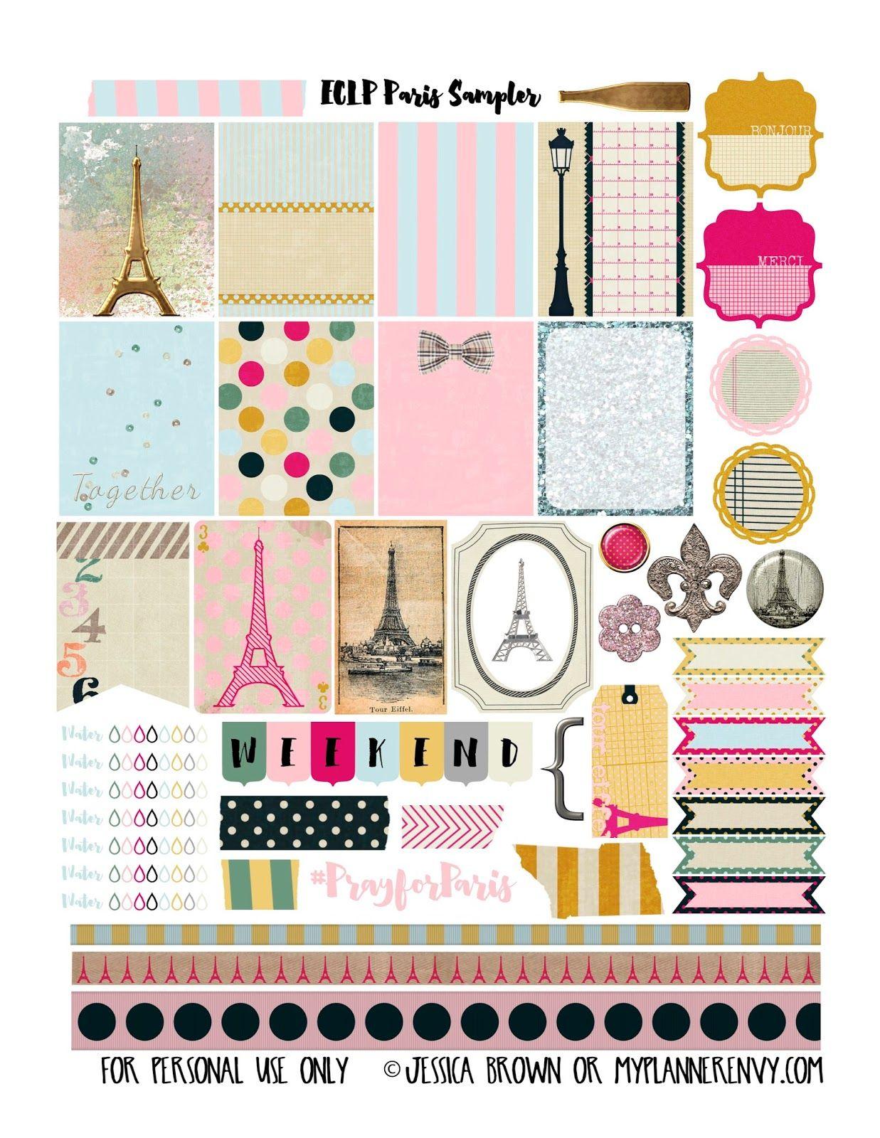 my planner envy: paris sampler - free planner printable | printables