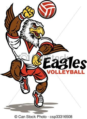 Vector Clipart Of Eagles Volleyball Cute Eagles Volleyball Team Design With Csp33316508 Search Clip Art Illustration Draw Art Icon Clip Art Volleyball