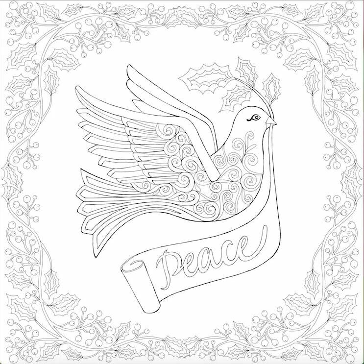 Peace Dove Coloring Page Coloring Pages Printables Color