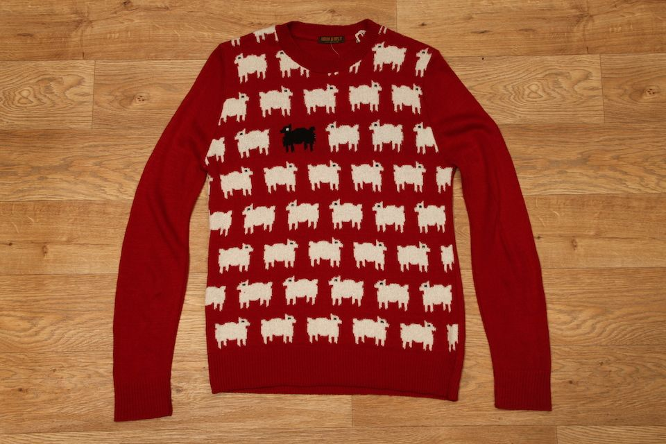 promo code beauty exquisite style Run & Fly Black Sheep Jumper Red £27.95 | Clothing ...