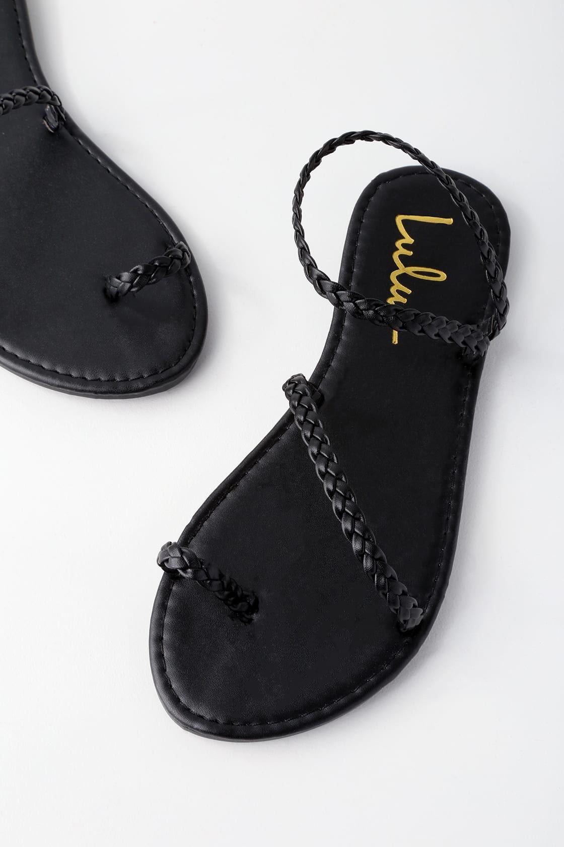 Mirela Black Flat Sandals In 2021 Black Sandals Flat Black Lace Up Flats Women Shoes [ 1680 x 1120 Pixel ]
