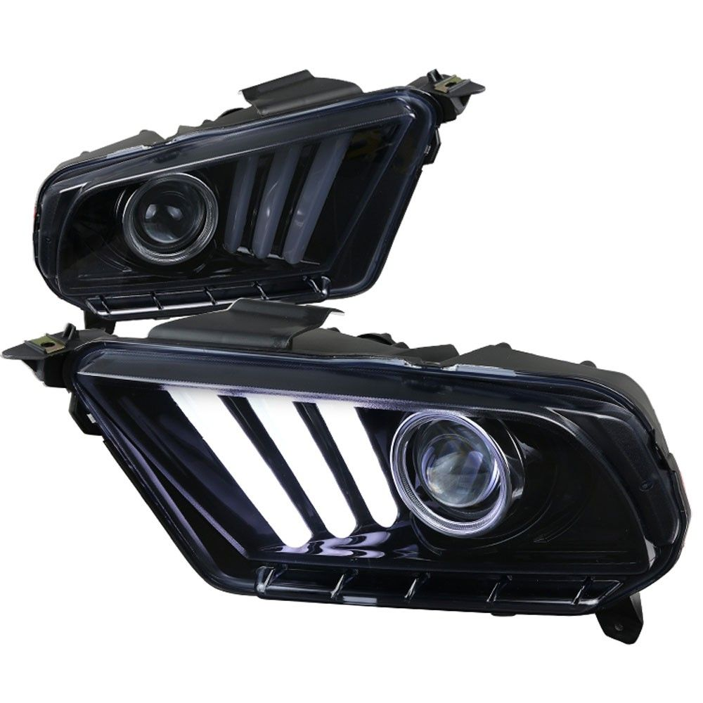 headlight projector 2015 style led sequential turn signal black housing with smoked lens non hid pair 2010 2012 [ 1000 x 1000 Pixel ]