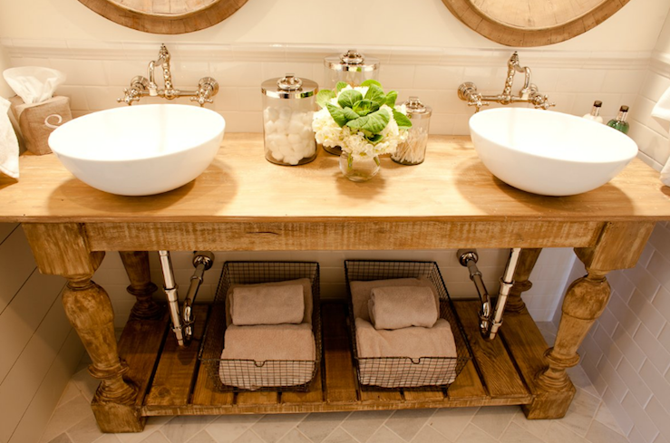 Gorgeous master bathroom design with balustrade salvaged for Master bathroom vessel sink