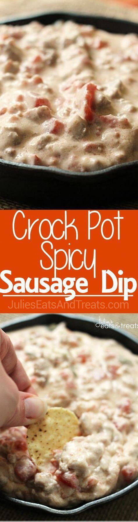 Crock Pot Spicy Sausage Dip Creamy Delicious Dip Loaded with Sausage and a Kick via Julie Evink Crock Pot Spicy Sausage Dip Creamy Delicious Dip Loaded with Sausage and a...