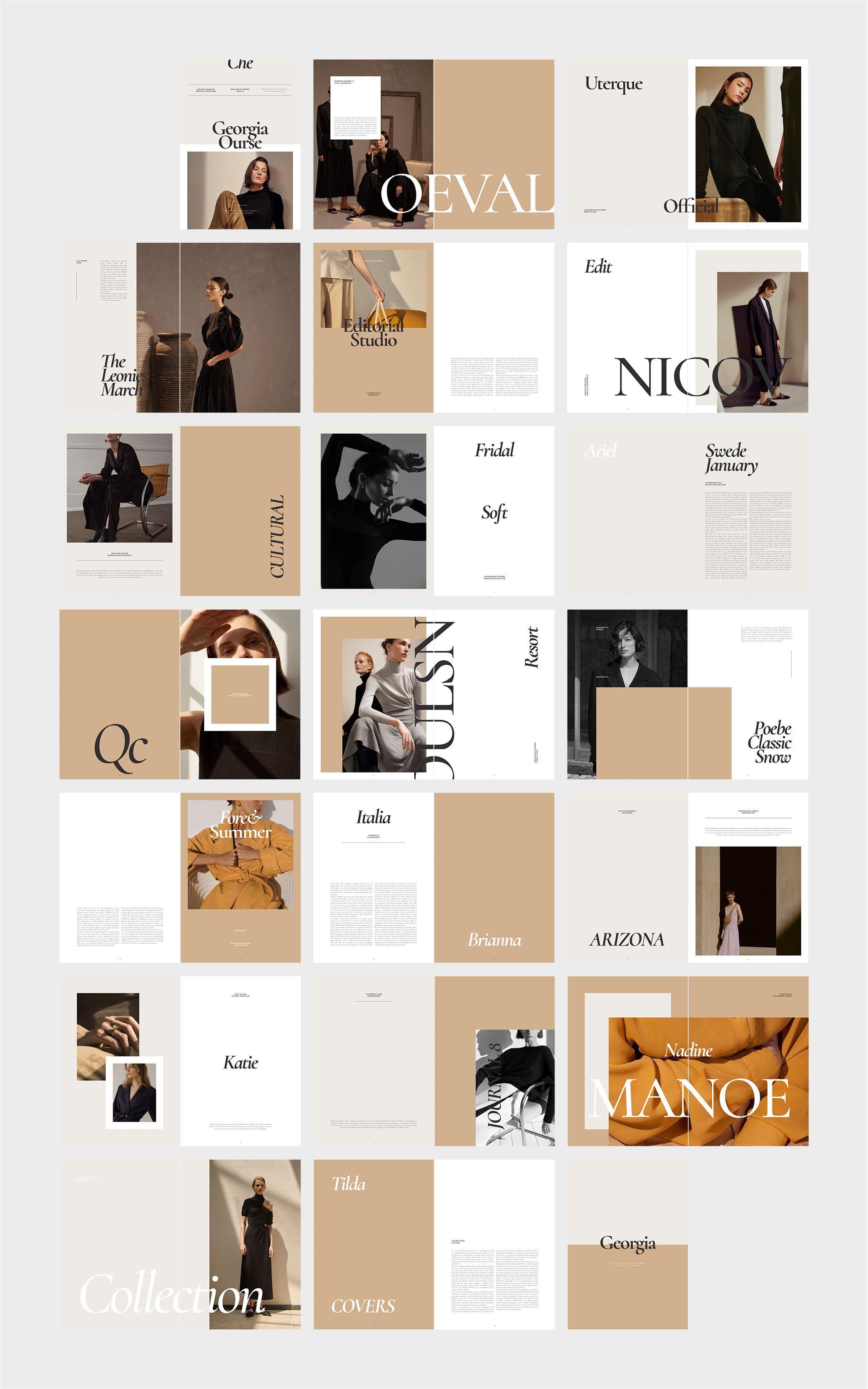 GEORGIA Editorial Fashion Lookbook by flowless on @creativemarket