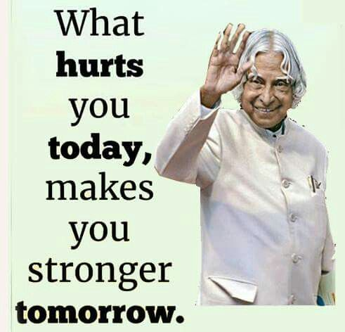 Problems never miss in this world Kalam quotes, Genius