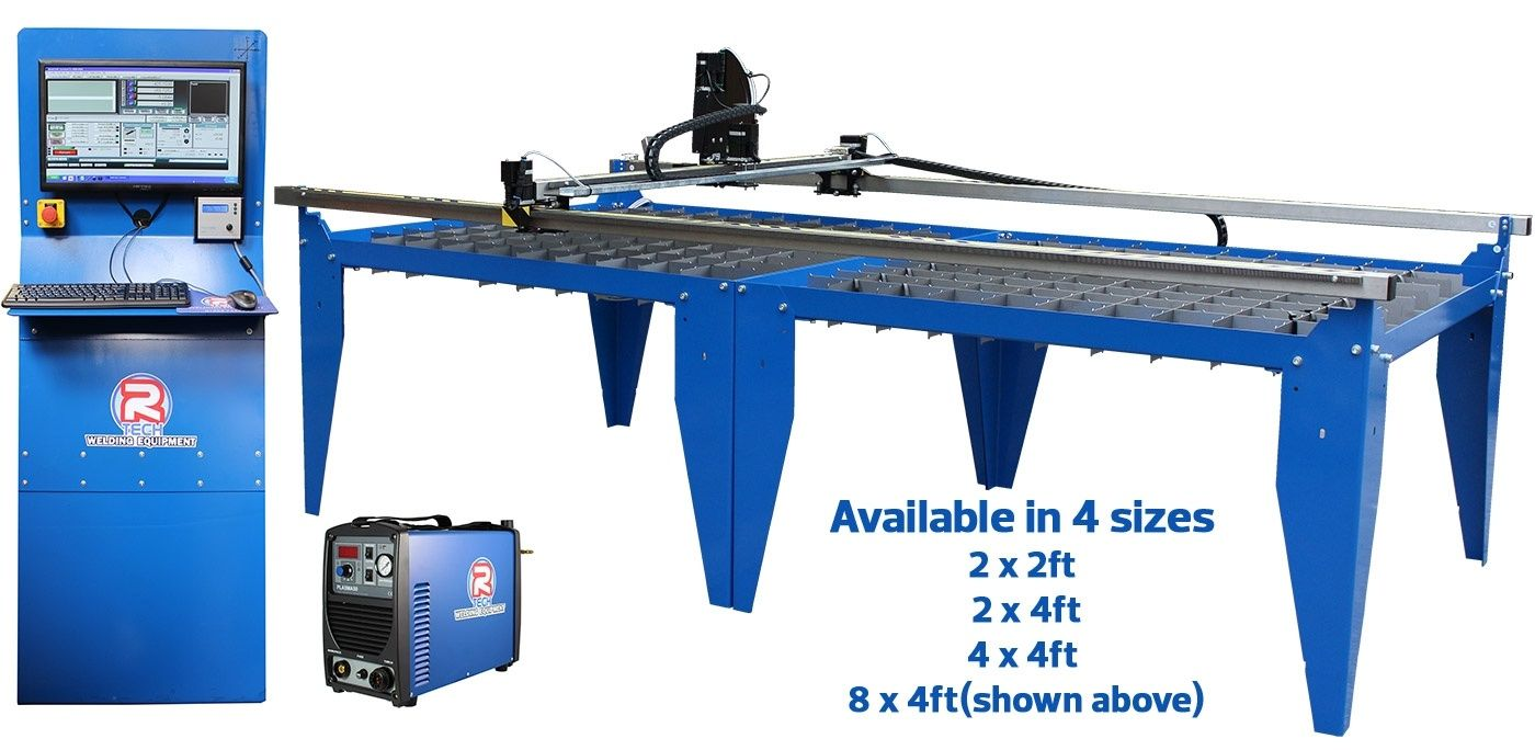 R Tech CNC Plasma Cutters 2x2ft 2x4ft 4x4ft 4x8ft High Spec Cutting Tables Include PC Software Free Training Support 3 Year Warranty