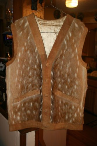 AMAZING HANDMADE WOMEN S TAN LEATHER SUEDE and SPOTTED DEER HIDE VEST. Find  this Pin and more on ... 4280d999f8fe