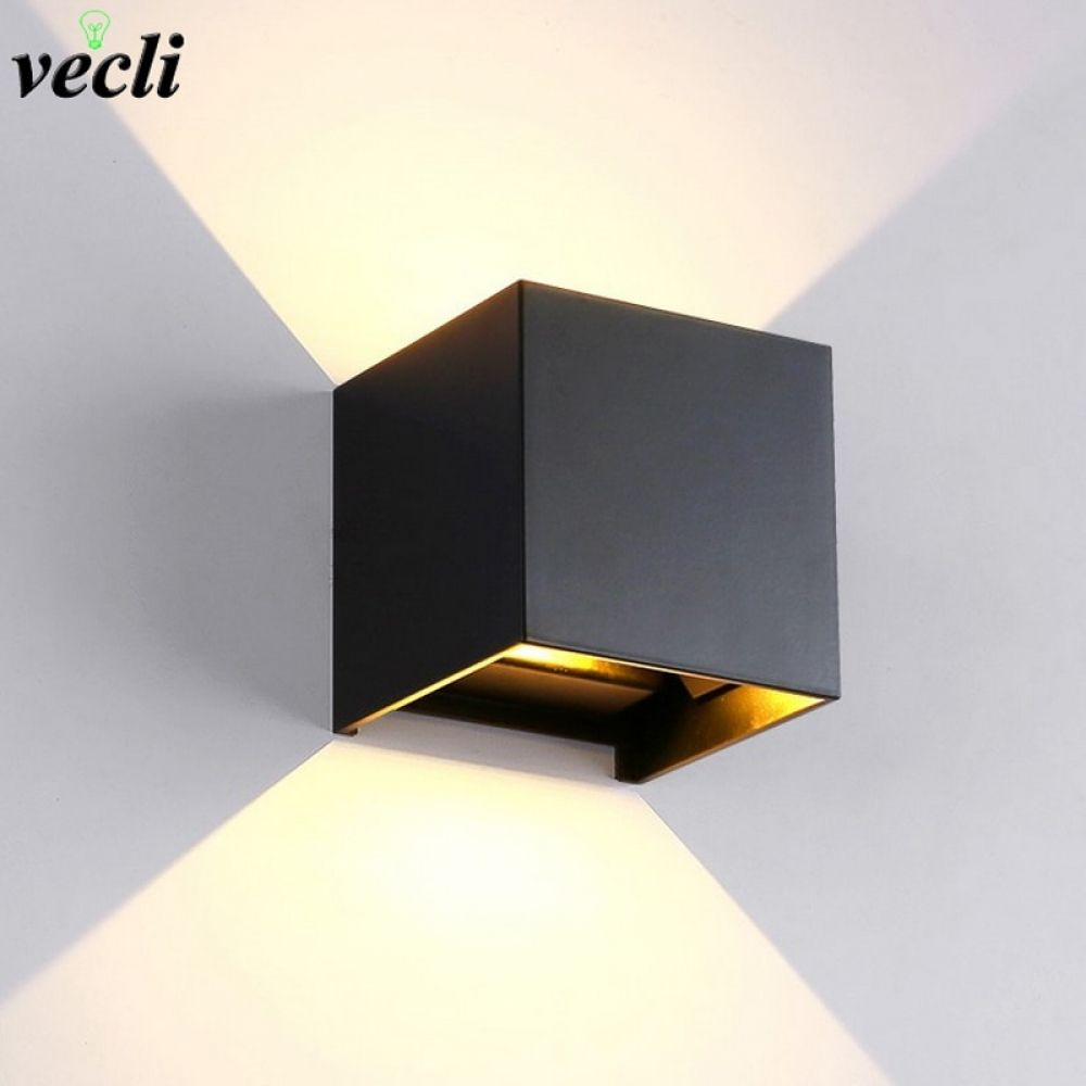 Modern LED Wall Light Outdoor Up Down Cube Sconce Lighting Lamp IP65 Waterproof