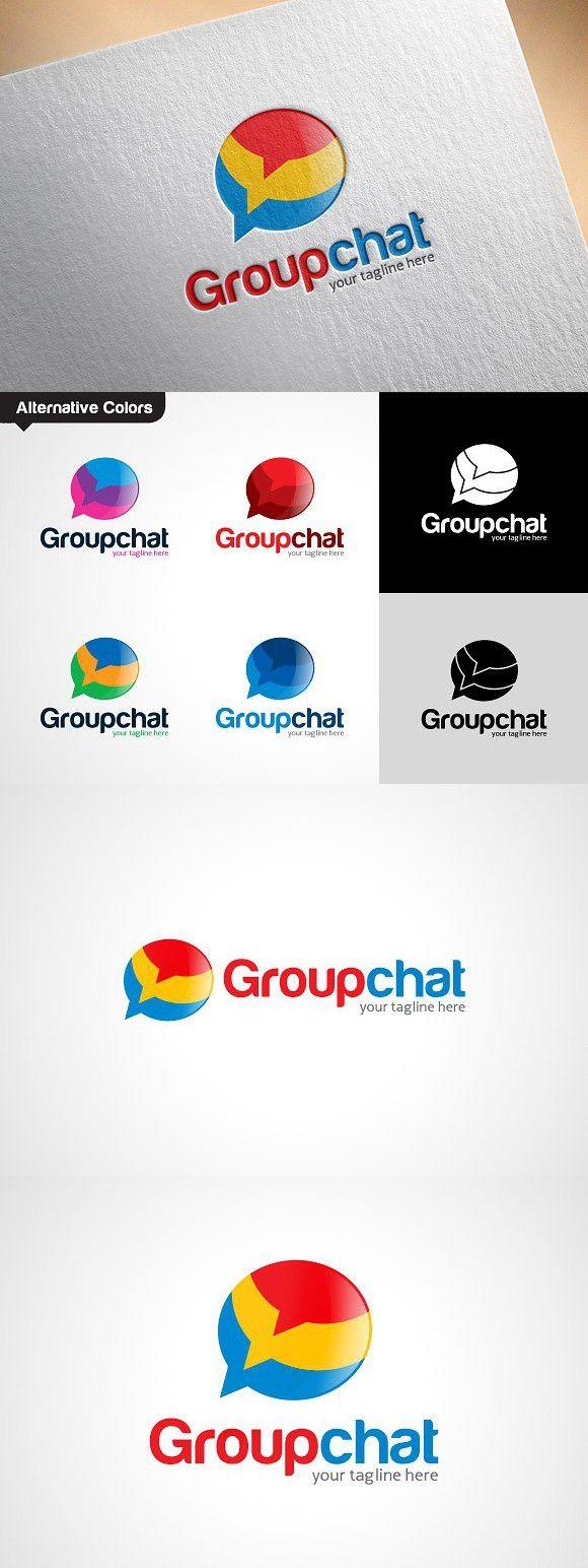 Group Chat Talk Logo Template Logo templates, Logos