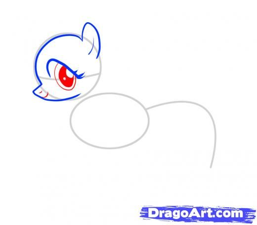 Step 4. How to Draw Fluttershy, My Little Pony | Art | Pinterest