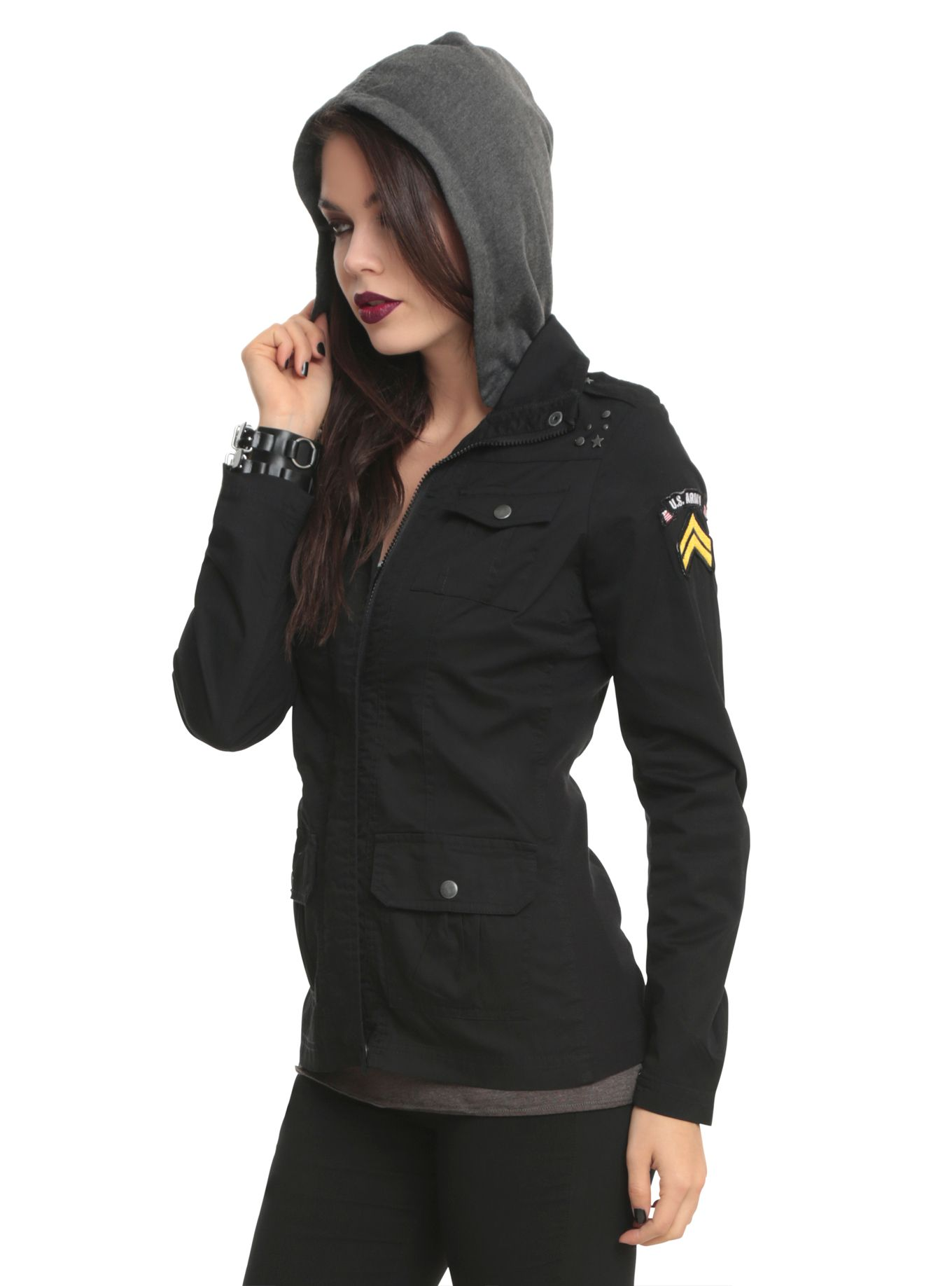 Black Military Patch Jacket Patches Jacket Military Inspired Jacket Jackets [ 1836 x 1360 Pixel ]