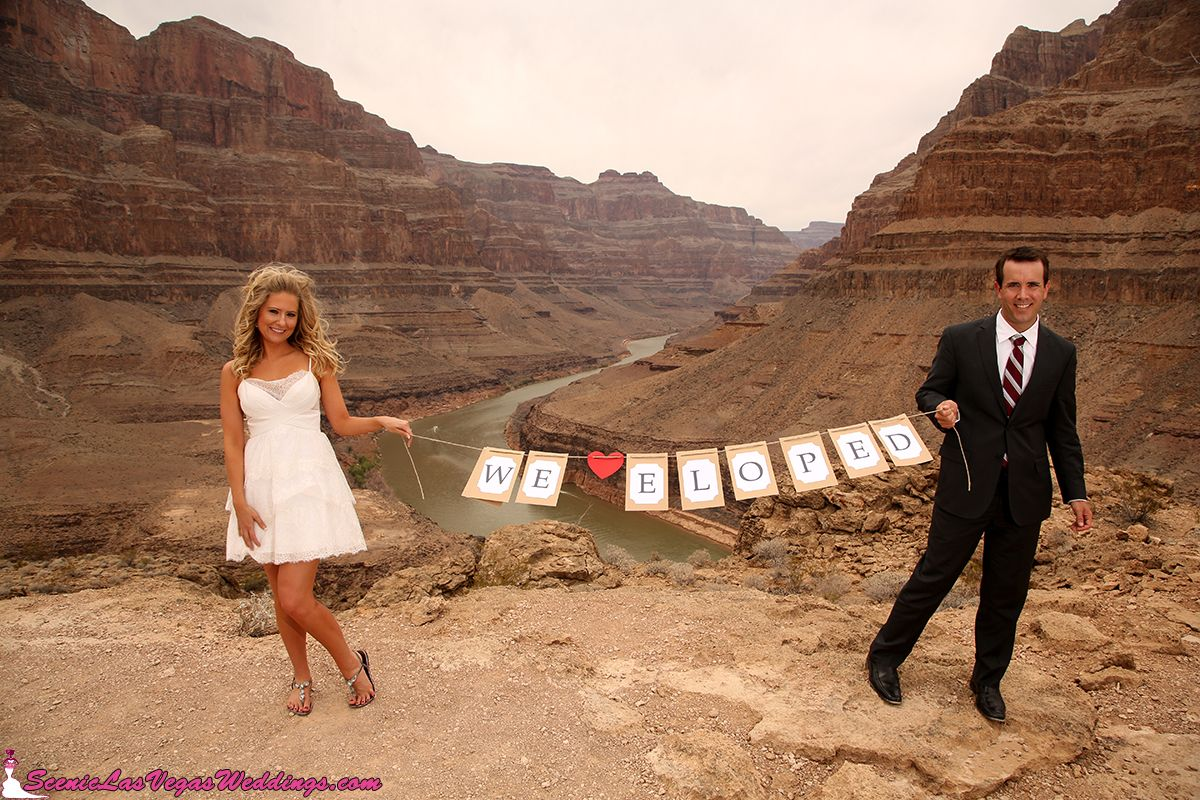 Love The Idea Of You Guys Holding This We Eloped Banner At Grand Canyon For