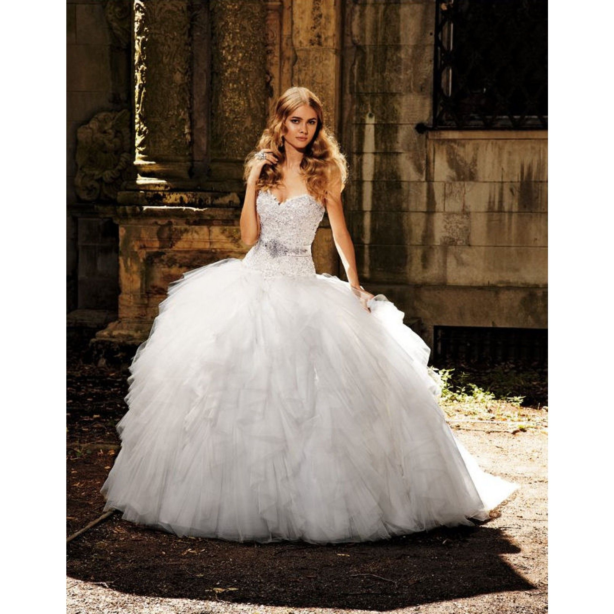 Eve of milady wedding dresses with - Bridal Gowns Eve Of Milady Princess Ball Gown Wedding Dress With Sweetheart Neckline And Dropped Waist Waistline