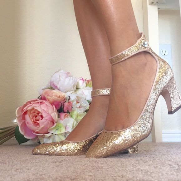zara glitter heels