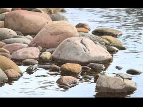 how to draw rocks in water
