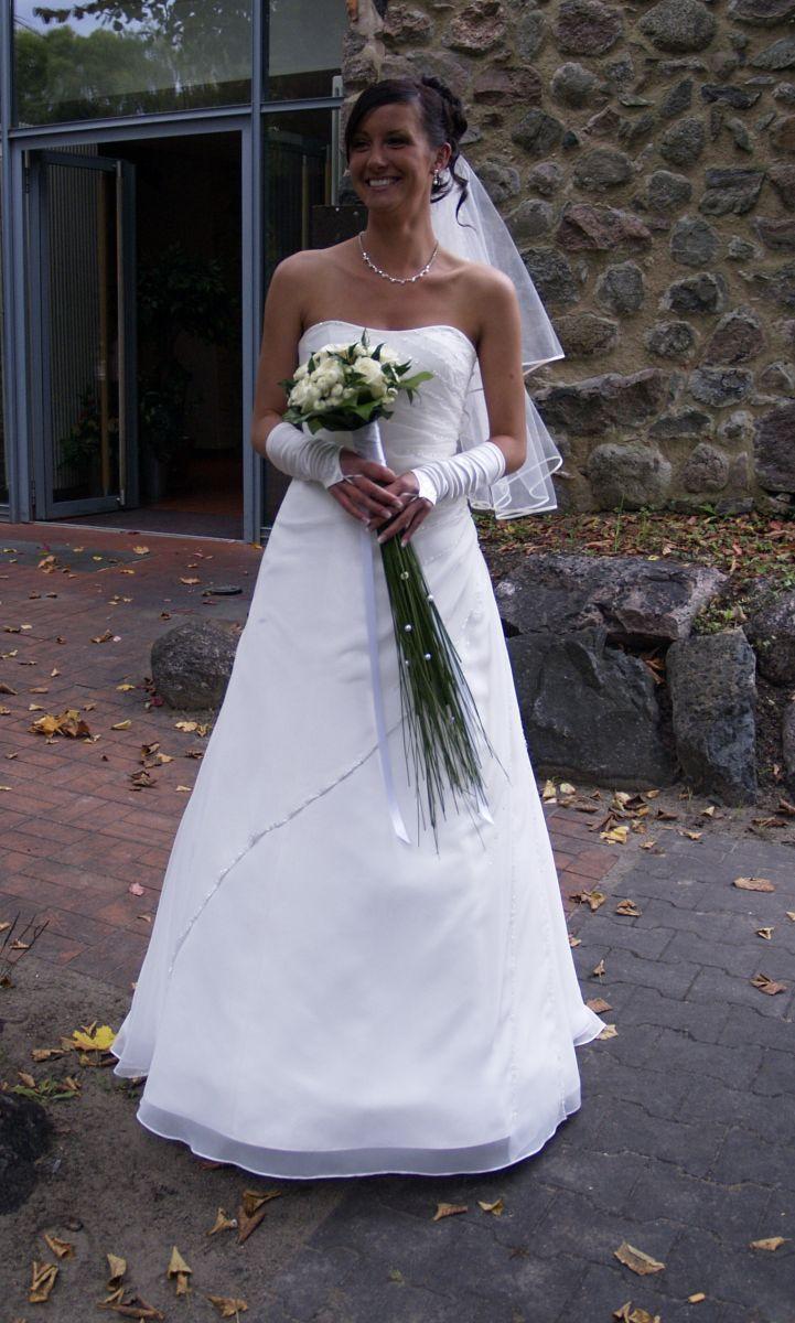 ♥ Hochzeitskleid Brautkleid von Lohrengel in champagner, 36 bzw. S ...
