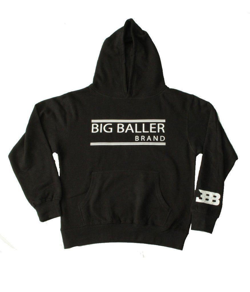 500c06cf826d Youth Black Hoodie - Open Double Bar – BIG BALLER BRAND