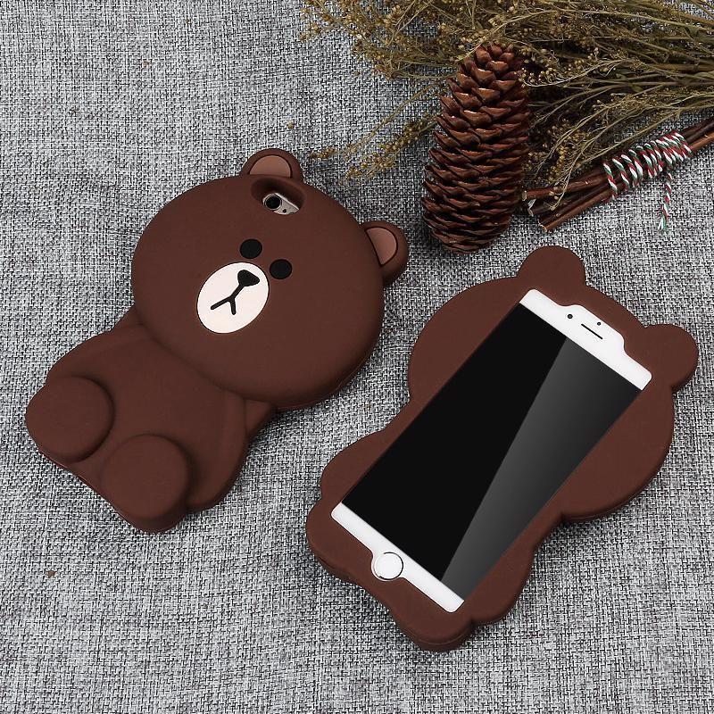 Funda de silicona para iPhone 11 pro 3D Kawaii Panda unicornio