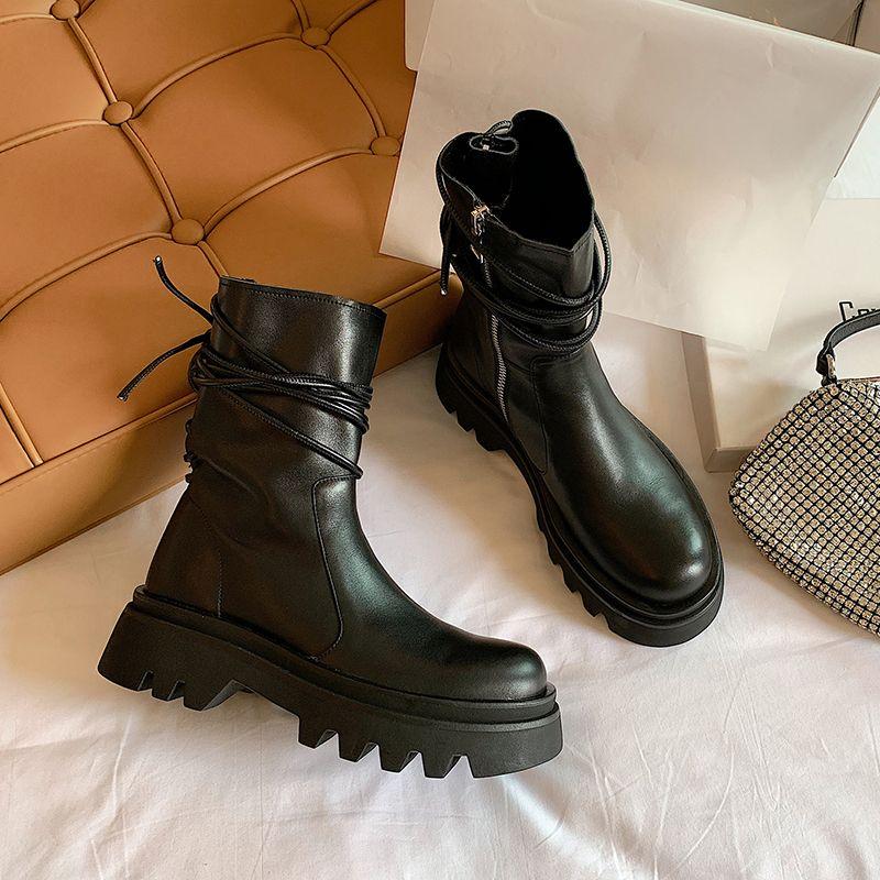 Chiko La Round Toe Block Heels Boots in