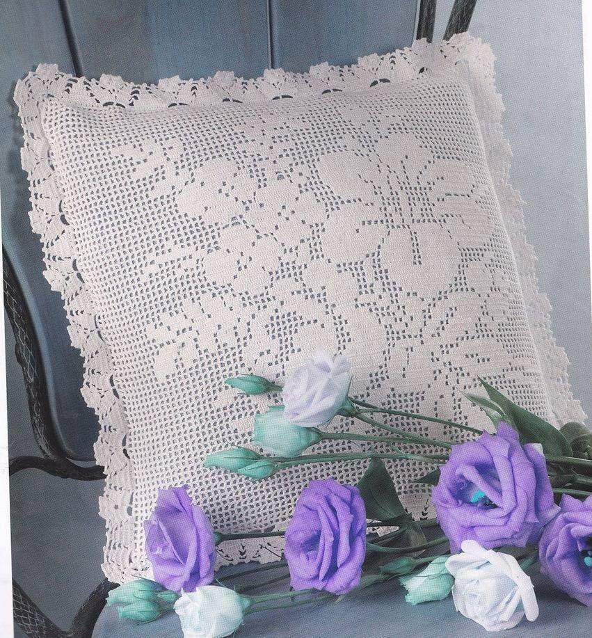 Декоративная подушка в филейной технике | Almohados Подушки | Pinterest