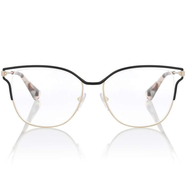 6d0b2eb311 Prada Metal square glasses Temples