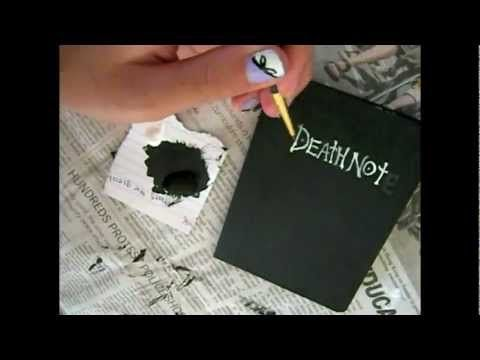Diy Deathnote 3 Has Anyone Else Thught About What Would Happen If The Deathnote Ran Out Of Pages Notes Diy Diy School Supplies Anime Crafts