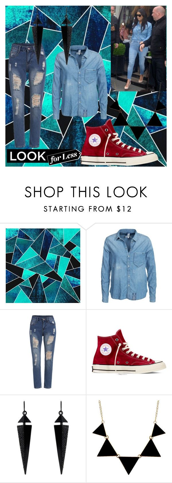 """""""Denim look"""" by ghelen2412 ❤ liked on Polyvore featuring G-Star, Converse and Oasis"""