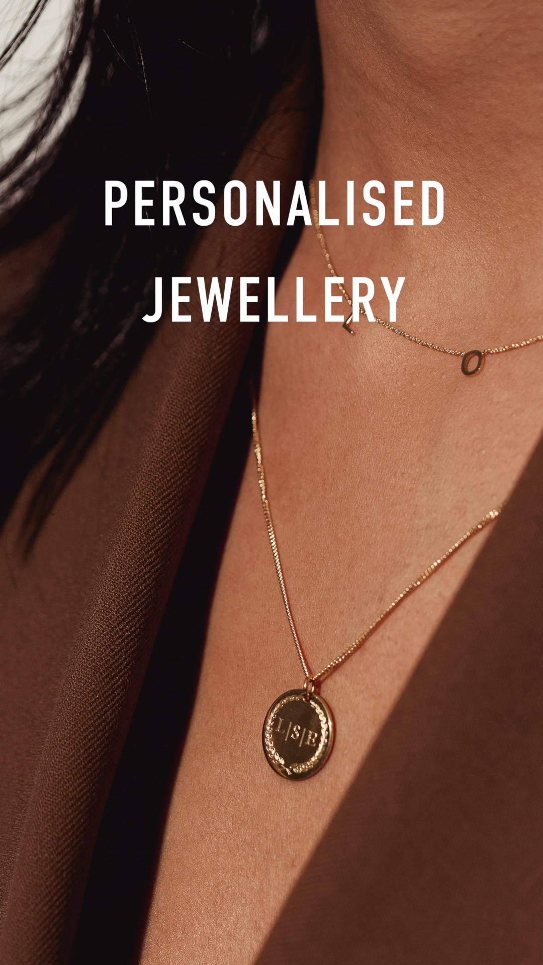 Photo of Personalised Initial Coin Necklace by Vedder & Vedder | Initial Necklace