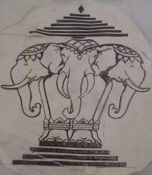 laos 3 headed elephant tattoo n piercings pinterest. Black Bedroom Furniture Sets. Home Design Ideas