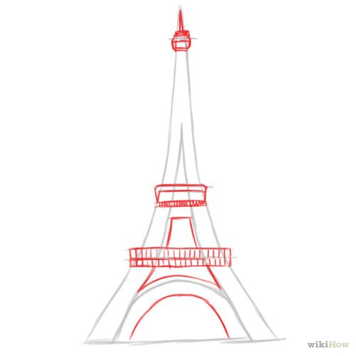 How To Draw The Eiffel Tower Eiffel Tower Art Step By Step Drawing Eiffel Tower