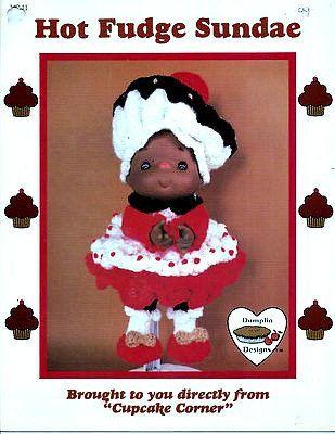 Popcorn Doll Cupcake Corner Dumplin Designs Crochet PATTERN//INSTRUCTIONS Leaflet
