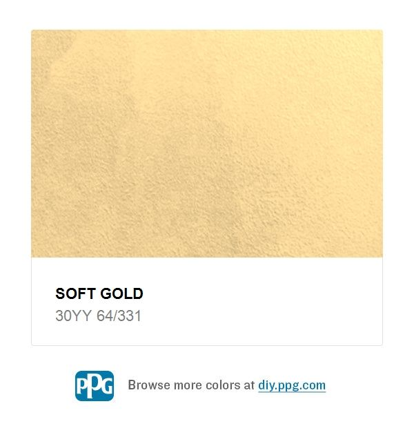 Explore Paint Color Soft Gold By Ppg Timeless Available At The Home Depot