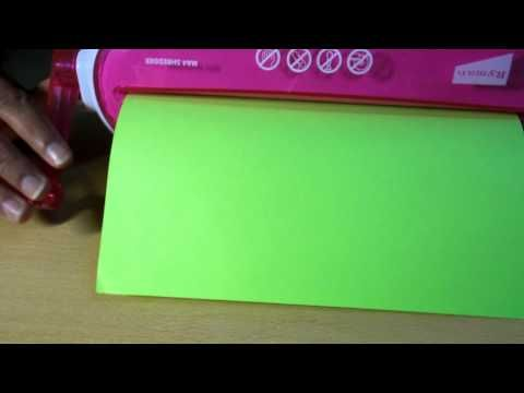 Using a shredder to make quilling strips