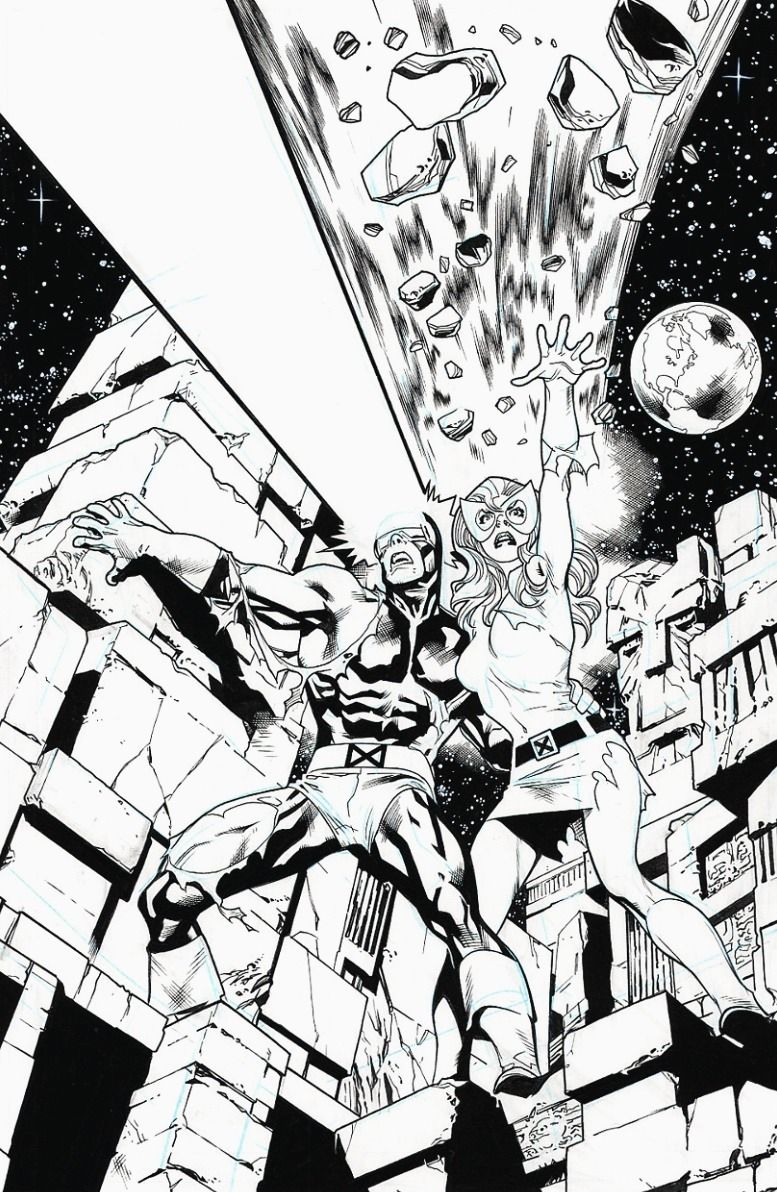 Cyclops And Marvel Girl From Uncanny X Men 137 By Stuart Immonen