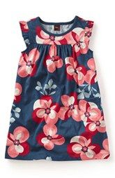 Tea Collection 'Floreale Futuristico' Dress (Toddler Girls, Little Girls & Big Girls)