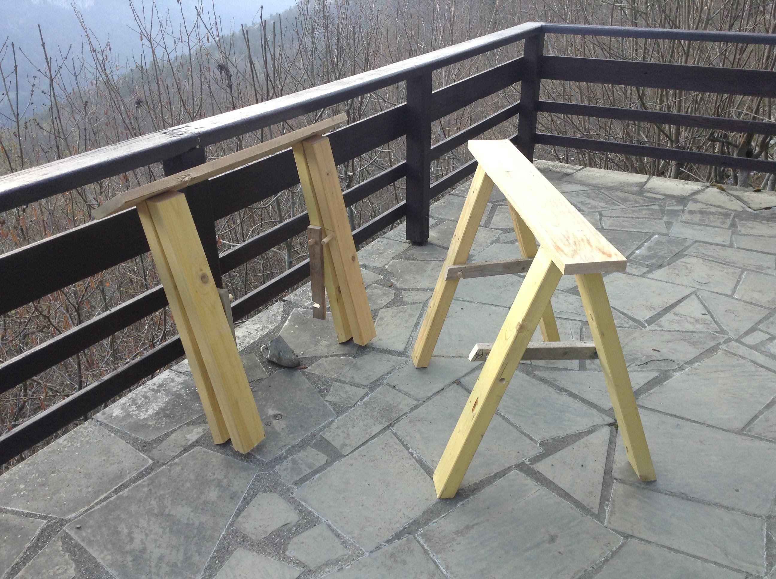 Comment fabriquer des tr teaux pliants pour ceux qui n 39 ont pas la place diy projets en bois - Treteaux en bois ...