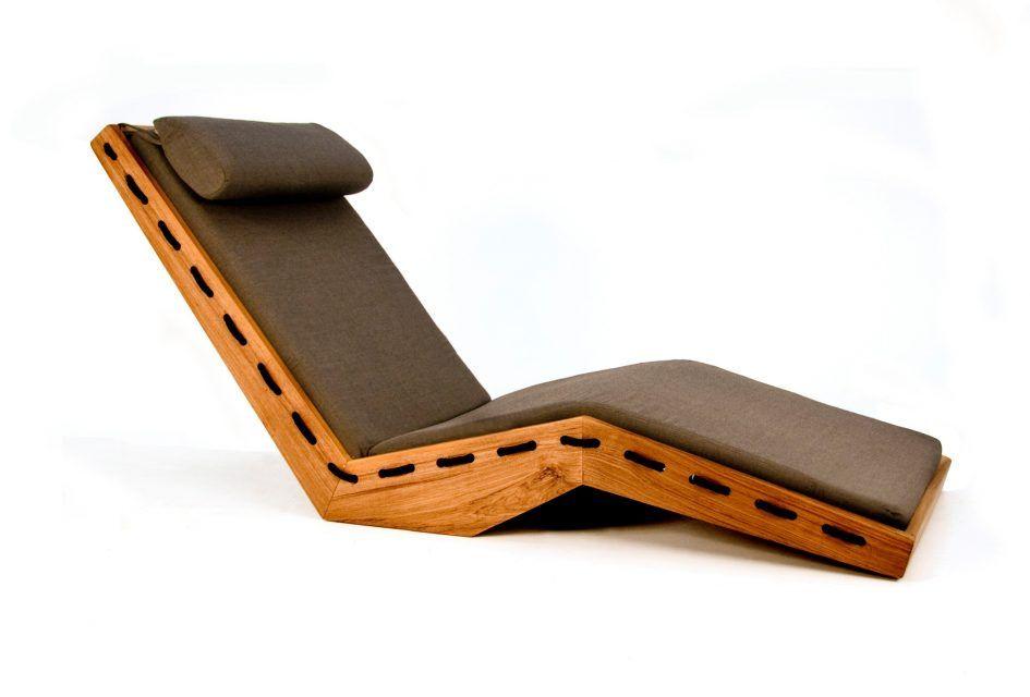 Furniture Lauser Outdoor Sun Lounger Modern Wooden Outdoor