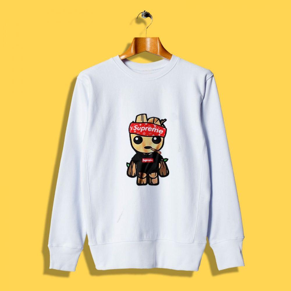 Supreme Style Baby Groot Parody Sweatshirt Outfit Hypebeast Outfithype Streetwear Outfits Urbans Sweatshirts Off White Sweatshirt Long Sleeve Tshirt Men [ 1000 x 1000 Pixel ]