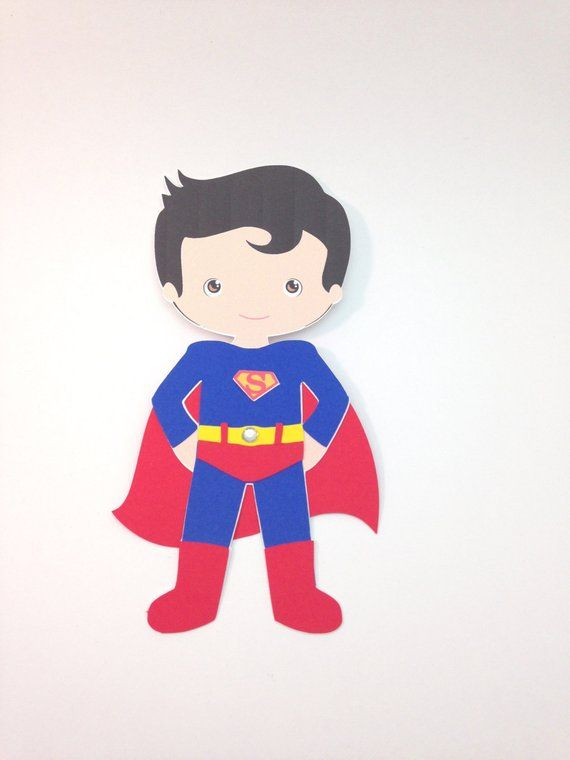 Superboy superhero craft kit for kids birthday party favor decoration arts and crafts stocking stuffer or scrapbooking #superherocrafts
