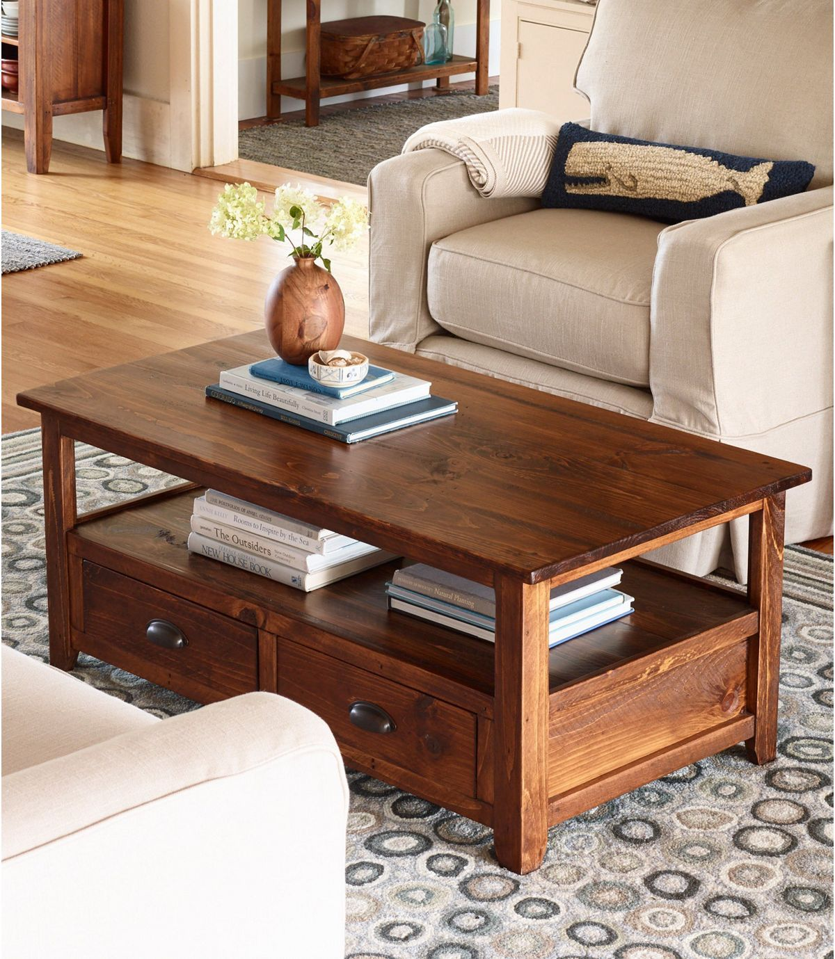 Rustic Wooden Coffee Table In 2021 Wooden Coffee Table Rustic Wooden Coffee Table Coffee Table Design [ 1379 x 1200 Pixel ]