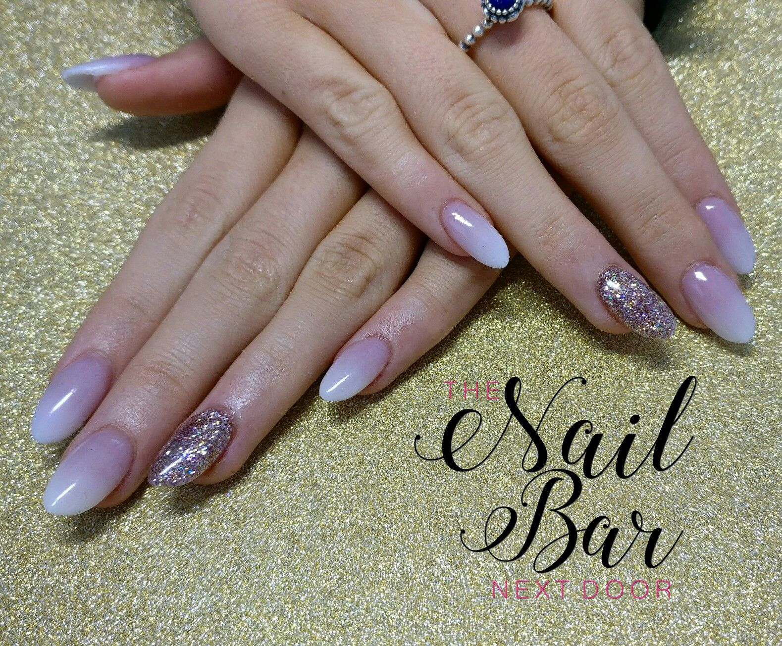 Baby boomer and rose gold acrylic nails | Ongle | Pinterest