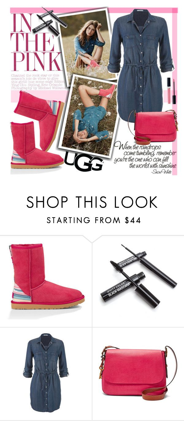 """""""Play With Prints In UGG: Contest Entry"""" by natasa-topalovic ❤ liked on Polyvore featuring UGG Australia, maurices, FOSSIL, Christian Dior and thisisugg"""