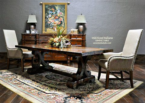 Tuscan Dining Table Grand Italiano Extra Long Dining Room Table ...