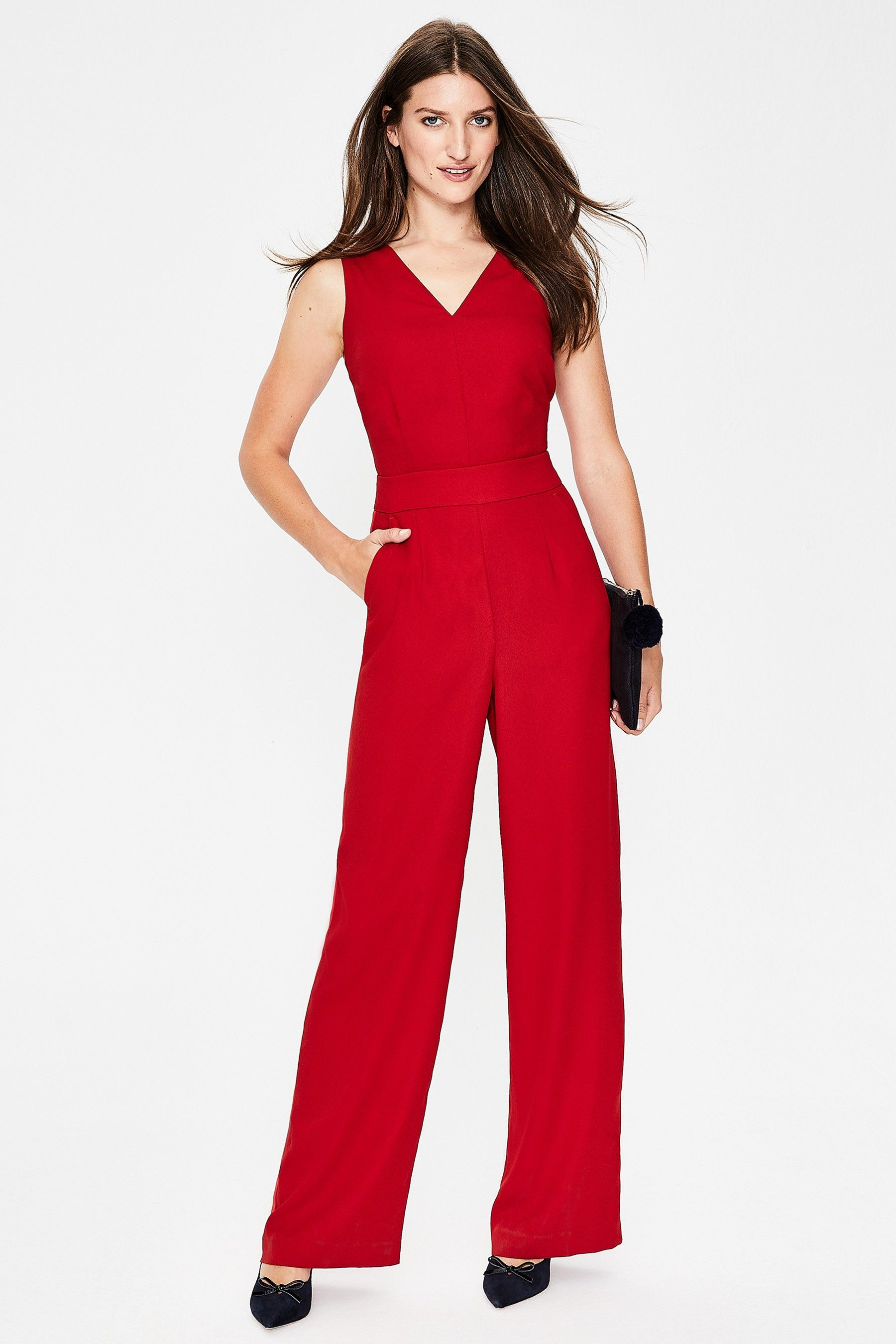 Womens Boden Red Hexham Jumpsuit Red Products In 2018