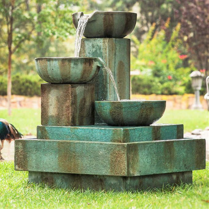 Signature Trio Cascade Outdoor Fountain