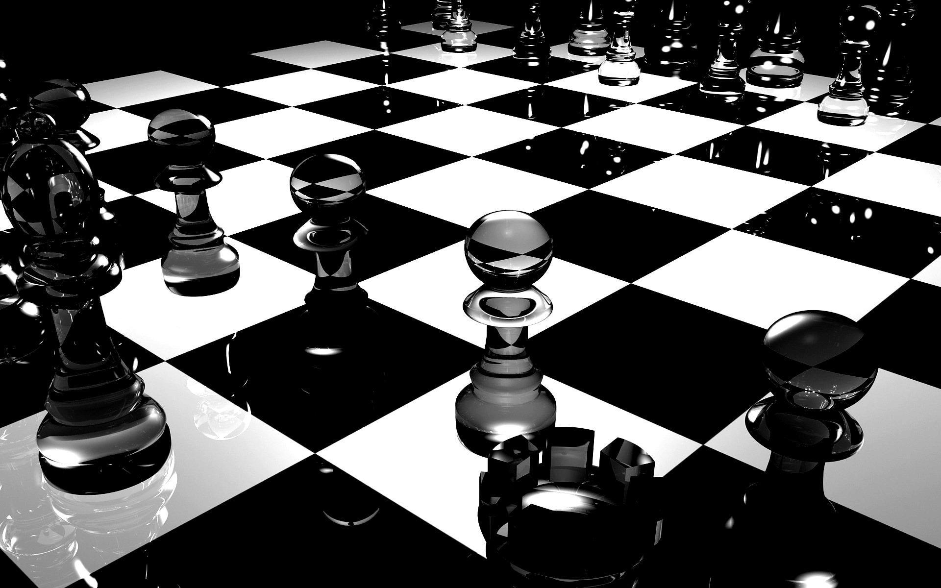 Chess Board Glass Black White Surface Oj2 Papel De Parede Preto E Branco Papel De Parede Preto Xadrez Jogo